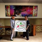 Z Pulse Fitness Studio Charro and Ali Saad celebrate opening their new business in the Laird Arcade this yeare.