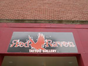 Red Raven sign