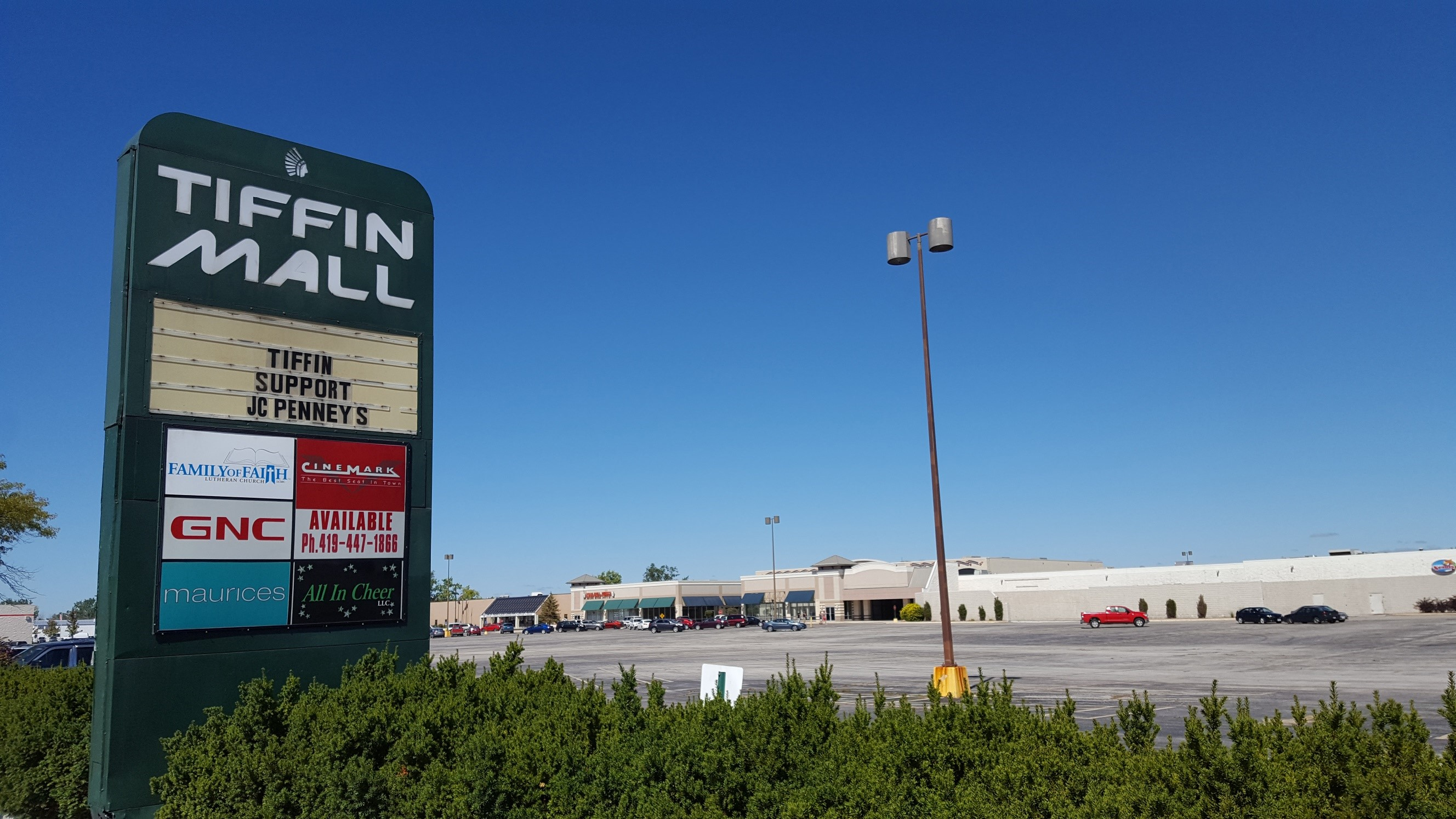 tiffin mall sign