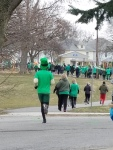 Leprechaun running in Tiffin St. Paddy's Day 5k 2018